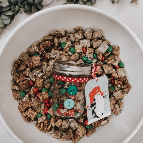 Coworker Holiday Gift Ideas: Dressed Up Puppy Chow